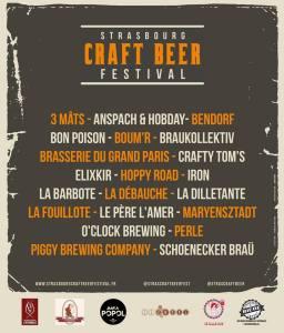 Strasbourg Craft Beer Festival - liste brasseries