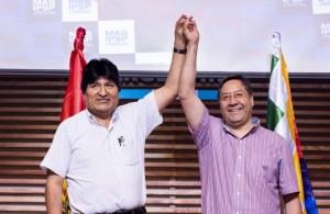 """Evo Morales y su """"delfín"""", Luis Arce"""