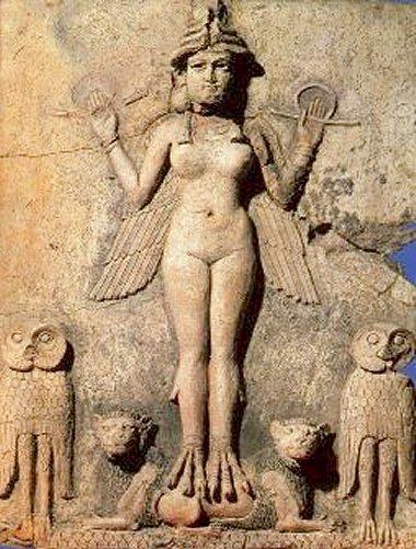 statuetta di divinità assiro babilonese
