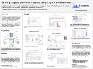Sharing targeted proteomics assays using Skyline and Panorama - Poster