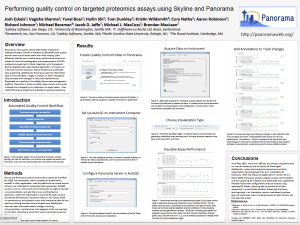 Performing quality control on targeted proteomics assays using Skyline and Panorama