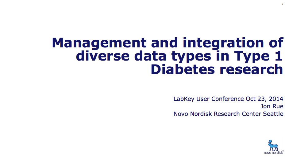 Management and Integration of Diverse Data Types in Type 1 Diabetes Research