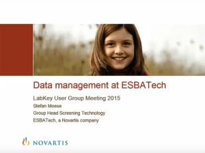 Data Management at ESBATech