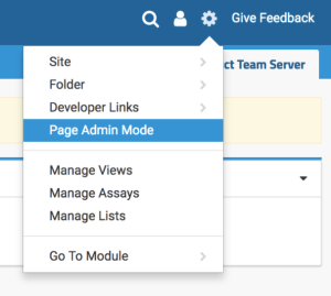 LabKey Server Page Admin Mode