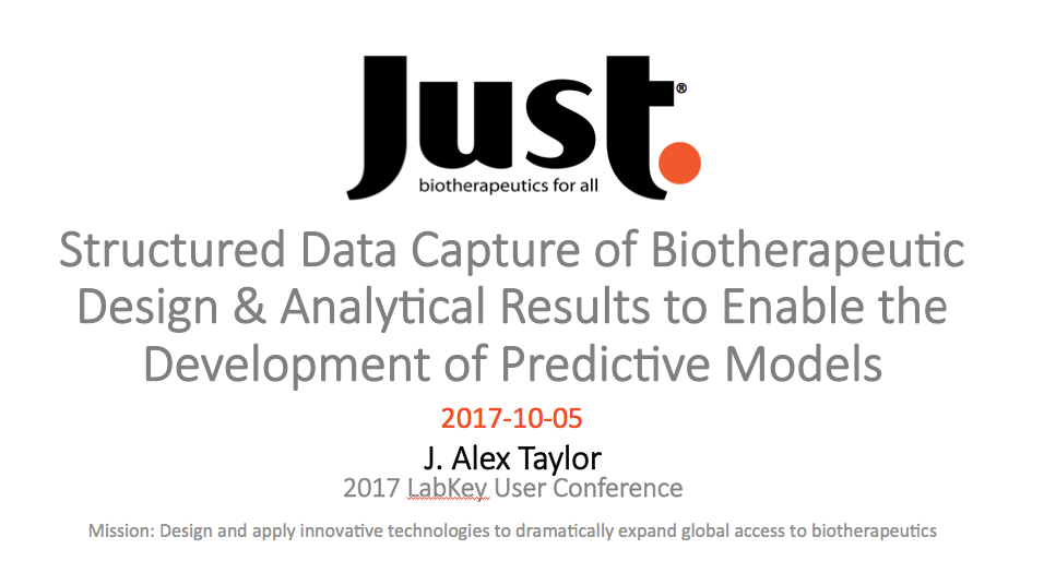 Structured Data Capture of Biotherapeutic Design & Analytical Results using LabKey Biologics to Enable the Development of Predictive Models