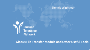 Immune Tolerance Network presents LabKey Server support for Globus File Transfer and Other Useful Tools