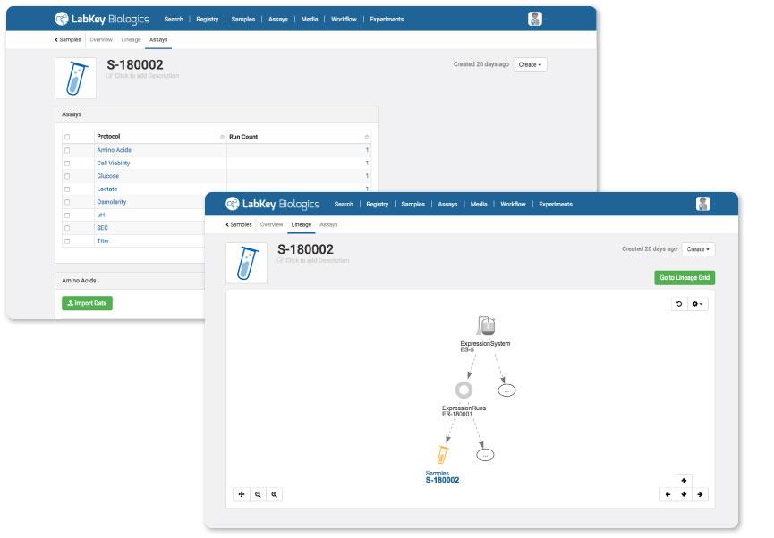 Sample Tracking in LabKey Biologics Software