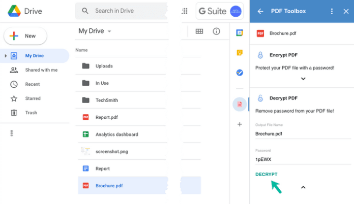 How to protect Google documents and pdf files in Google drive with password protection