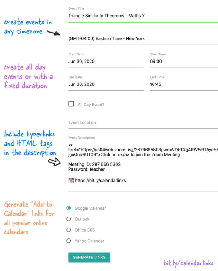 Let People Quickly Save your Events on their Calendars
