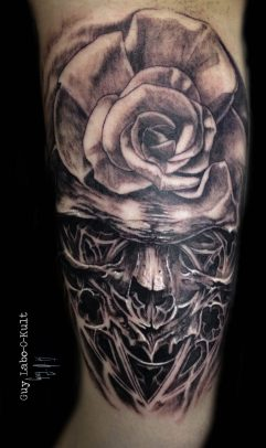 Gothic Rose Skull - 2016