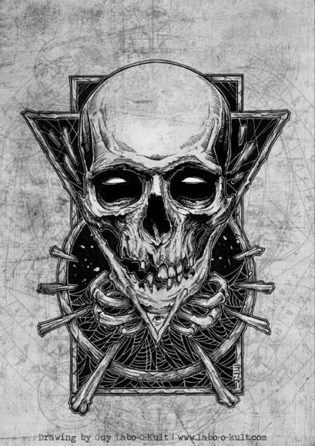 Rock the Hell T-Shirt Design by Guy Labo-O-Kult