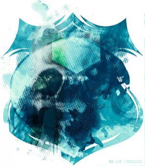 """GrafiKArt The """"Banner Skull"""" by Ka L-O-K"""
