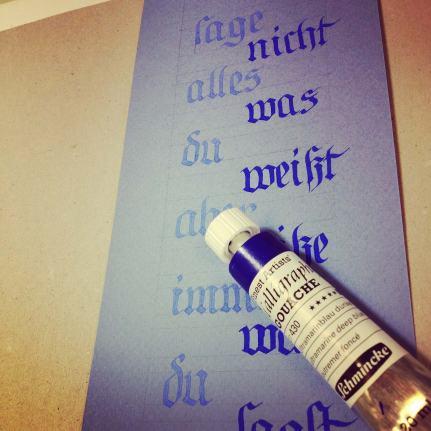 "Calligraphy Exemples ""Hutzli Fraktur Script Minuscle"""