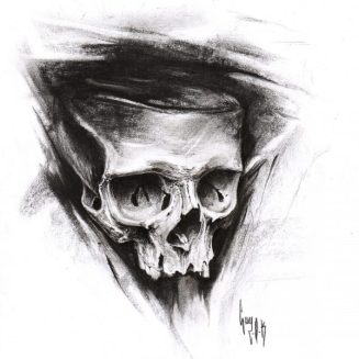 "Charcoal Drawing ""Carbo-O-Skull"""