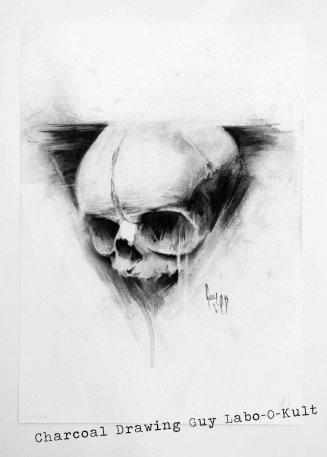 """""""embryo"""" — Dessin au charbon par Guy Labo-O-Kult"""