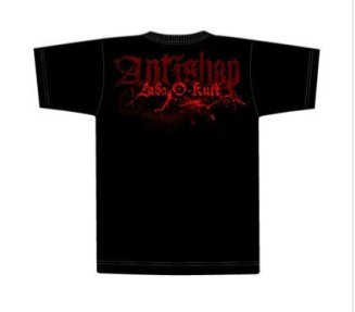 "Mockup for t-shirt design in collaboration the the clothing shop ""antishop"""