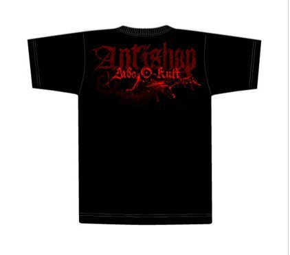"""Mockup for t-shirt design in collaboration the the clothing shop """"antishop"""""""
