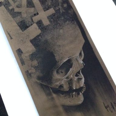 "Charcoal Drawing ""Nec Spe - Nec Metu"" 