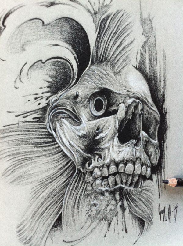 "Charcoal Drawing ""Sea Shepard"" by Guy Labo-O-Kult"