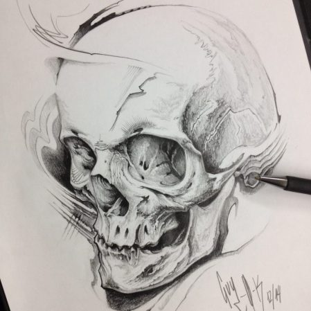 "Pencil Drawing ""Frag Skull"