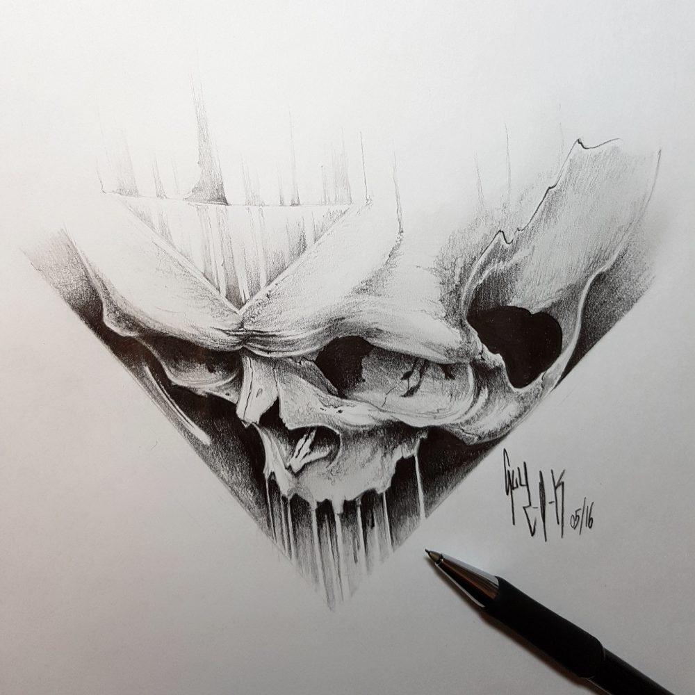 "Pencil Drawing ""Solus Eris"" by Guy Labo-O-Kult"