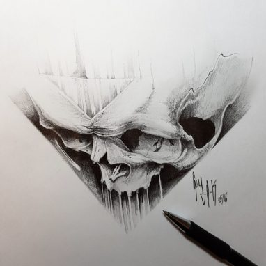 "Pencil Drawing ""Solus Eris"" by Guy Labo-O-Kult"