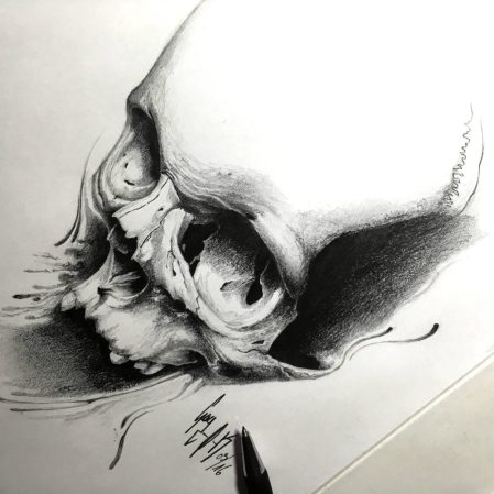 "Pencil Drawing ""Sperm-O-Skull"""
