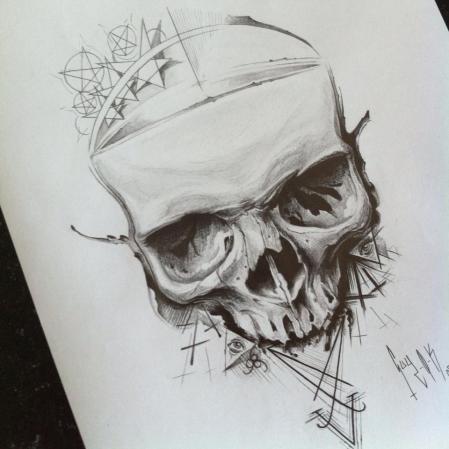 "Pencil Drawing ""Symbol Skulls"""