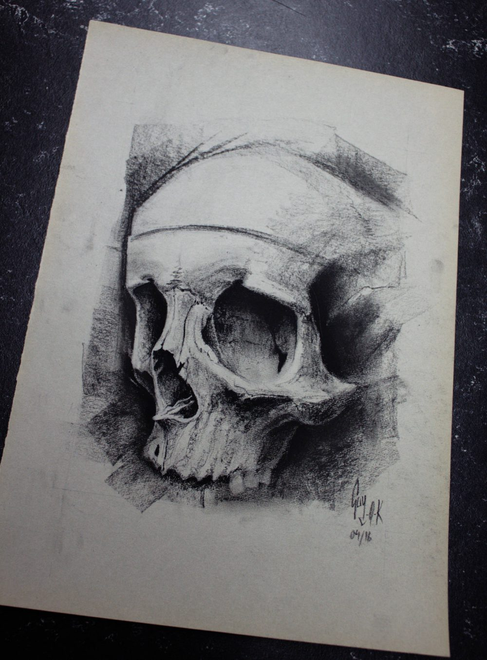 "Charcoal Drawing ""Talis quali"" by Guy Labo-O-Kult"