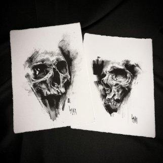 pulvis es – Dessin au charbon | Charcoal Drawing | Kohlezeichnung Guy Labo-O-Kult | FINE ART PRINT