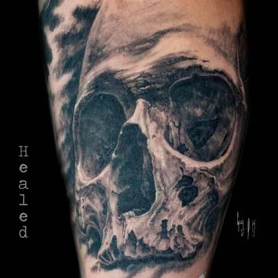 Healed Tattoo done by Guy Labo-O-Kult