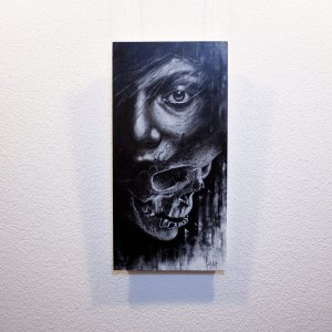 """Deceptio""  - Original artwork by Guy Labo-O-Kult (acrylic painting on canvas board)"