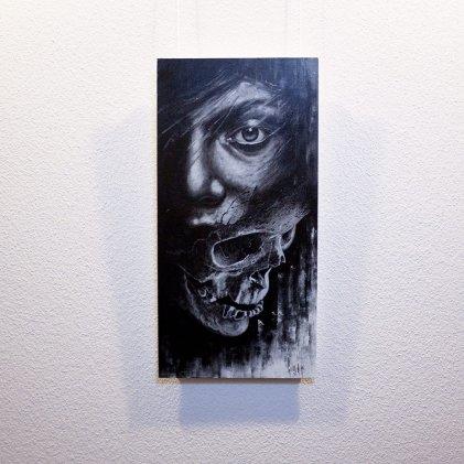 """Deceptio"" - Original artwork by Guy Labo-O-Kult (acrylic painting on canvas board)"