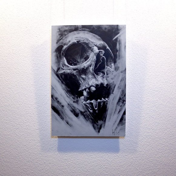 """Mors Suprema"" - Oeuvre original de Guy Labo-O-Kult, peinture acrylique"