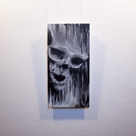 """Original artwork """"Mortuus"""" by Guy Labo-O-Kult ( Acrylic Painting on Canvas Board)"""