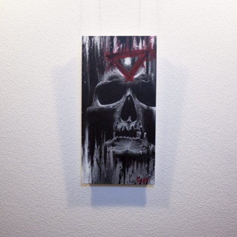 """Original Artwork """"Ocul(t)us"""" by Guy Labo-O-Kult (Acrylic Painting on canvas board)"""