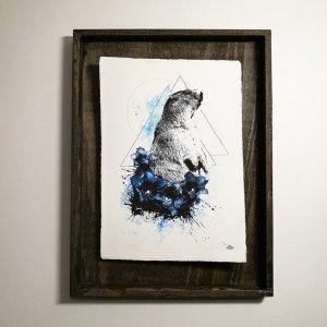 """Marmota Marmota"" – HelvEdition by Ka L-O-K, Kunstdruck auf Büttenpapier"