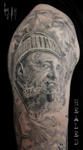 Healed Tattoo, done by Guy Labo-O-Kult