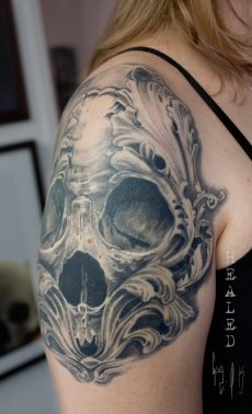 Healed Tattoo, done by Guy Labo-O-Kult