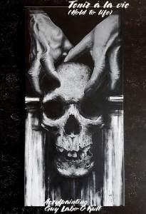Tenir à la vie | Peinture acrylique de Guy Labo-O-Kult