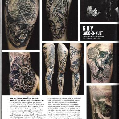 """Press Footage in French Magazin """"Inked"""" #28"""