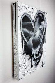 """Original artwork """"Is that love?"""" by Guy Labo-O-Kult (acrylic painting on canvas)"""