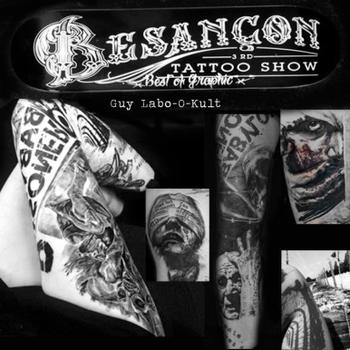 Winner Best of Graphic Tattoo, Besançon 2017
