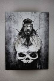 "Originalbild ""BirthDeath – and the way in between""   Guy Labo-O-Kult (Acryl auf Holz 29.7 x 40 x 3.5cm)"