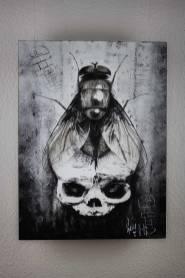 "Originalbild ""BirthDeath – and the way in between"" | Guy Labo-O-Kult (Acryl auf Holz 29.7 x 40 x 3.5cm)"
