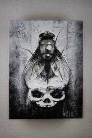 """Original Artwork """"BirthDeath – and the way in between"""" by Guy Labo-O-Kult (Acrylicpainting on wood)"""