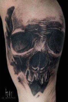 Charcoal Style Skull by Guy Labo-O-Kult