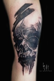 Charcoal Style Fetus Skull, Guy Labo-O-Kult