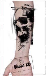 "Motif Wanna Do by Guy Labo-O-Kult ""Skull O Mine"""