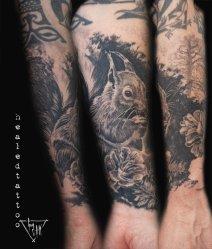 "Healed tattoo ""Squirell"" | Guy Labo-O-Kult"